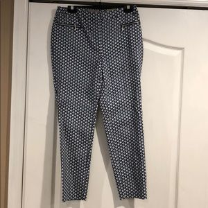 Chico's blue pattern ankle pants